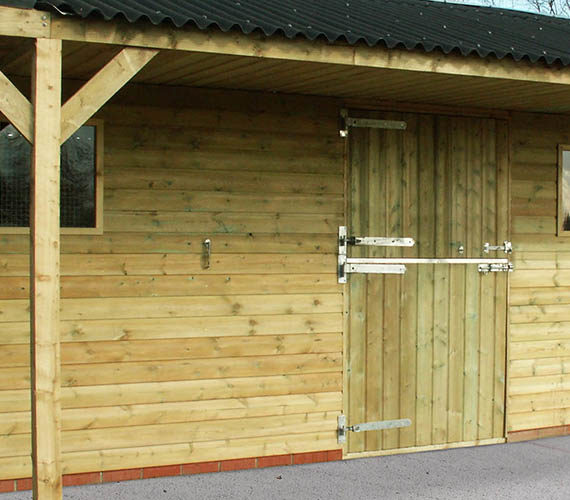 Fixed Stable Block and Timber Horse Stables manufactured by Woodhouse Stables