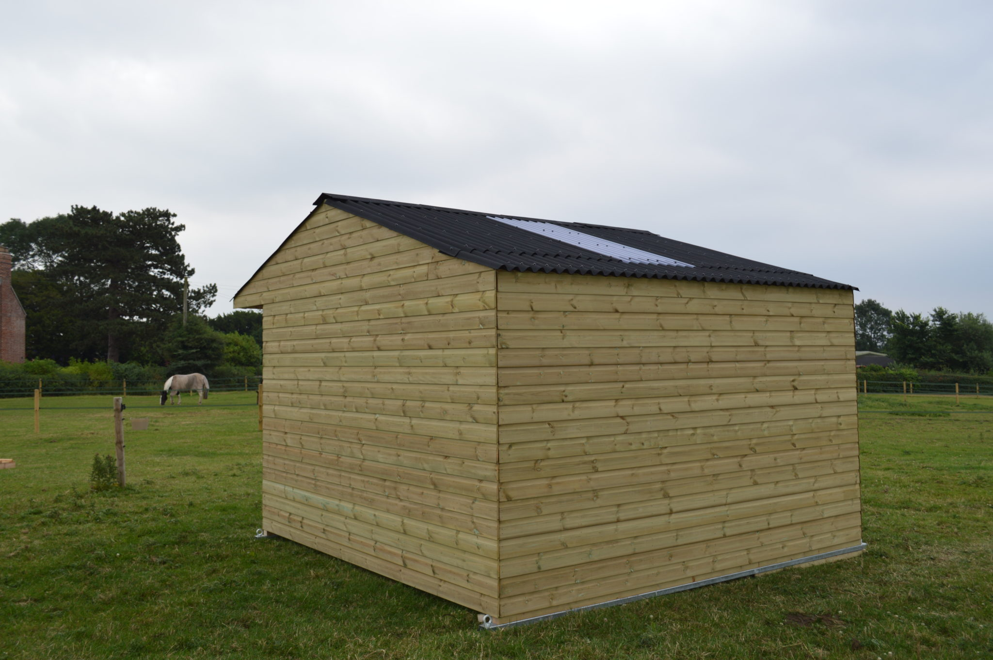 12x12 Mobile Field Shelter on Steel Skids - Rear View