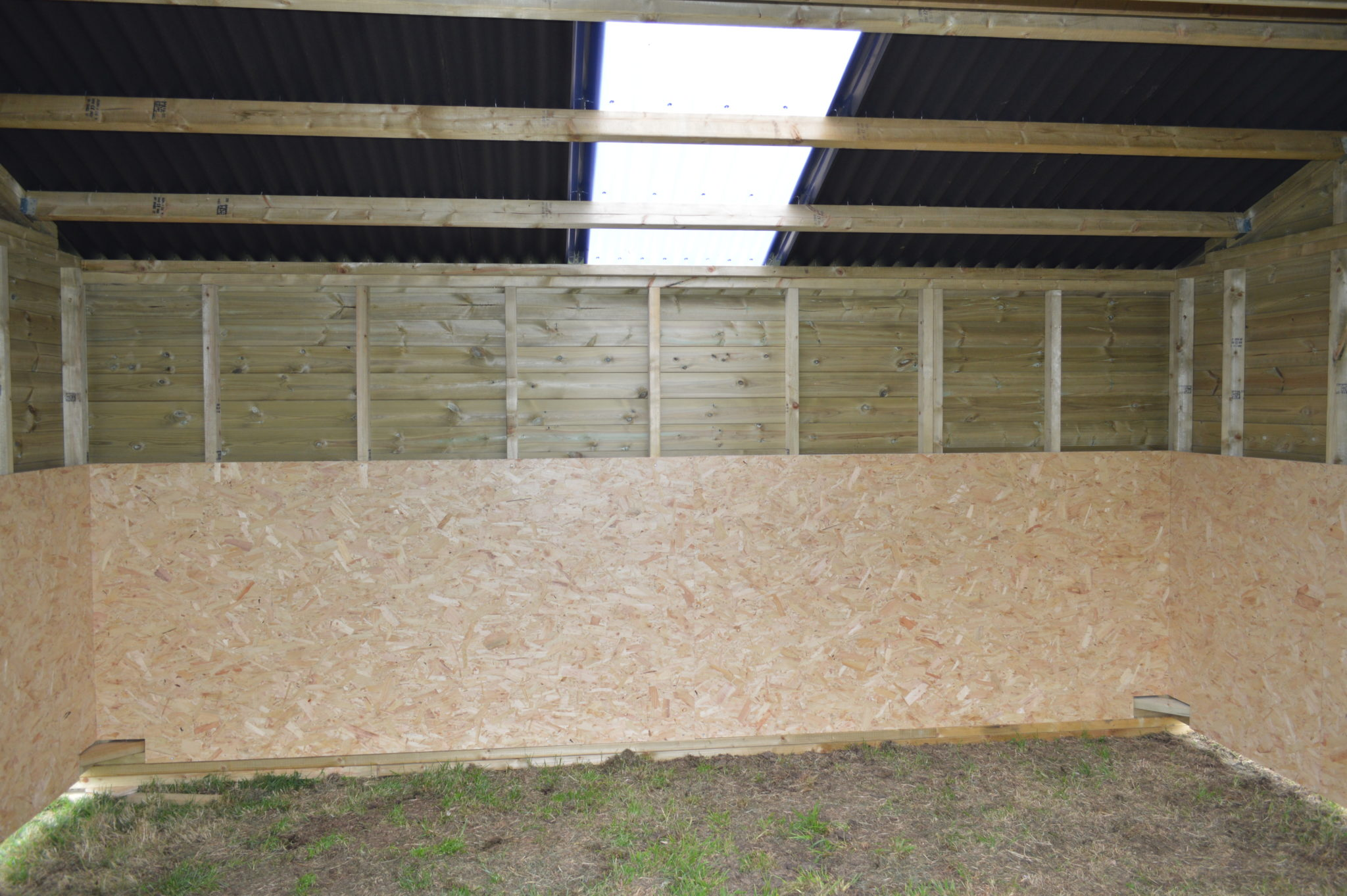Internal view of 12x16 Mobile Field Shelter